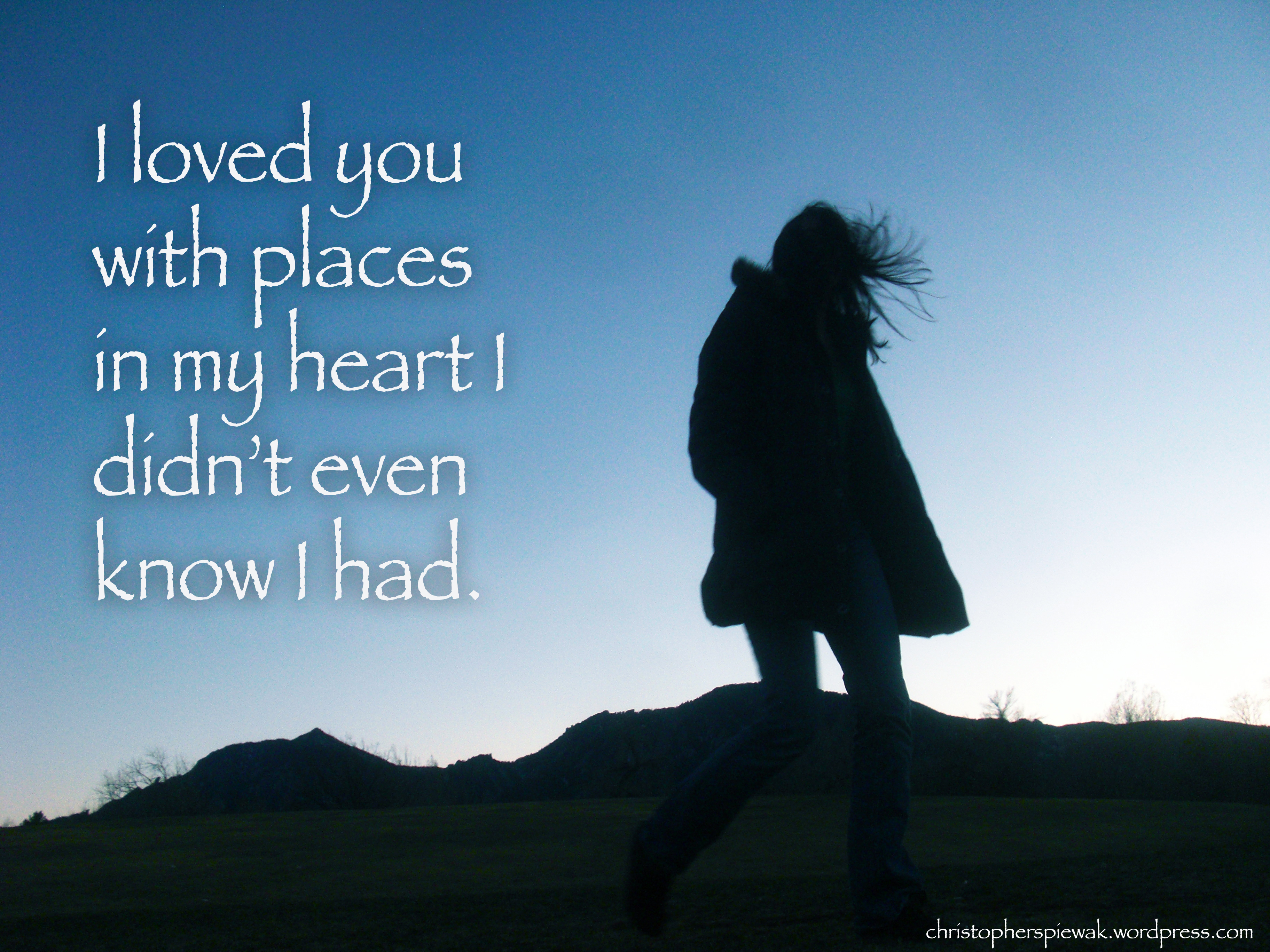 I Loved You Message