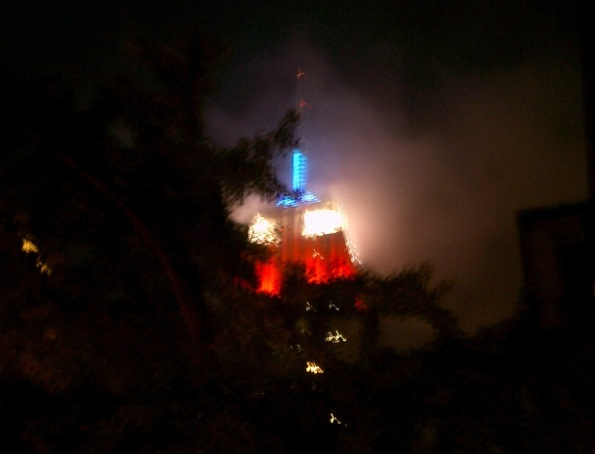 New York City Empire State Building 4th Of July