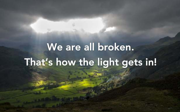 Light Through Clouds w/Quote